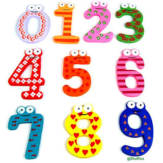 Wooden Numbers For Kids (0 To 9)