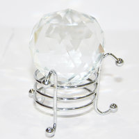 Feng Shui Crystal Diamond Cut Ball With Stand 50 Mm
