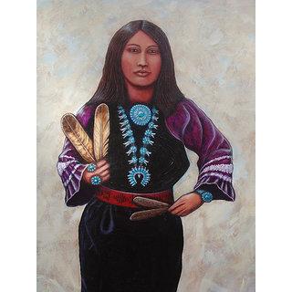 Vitalwalls Portrait Canvas Art PrintOriental-275-30