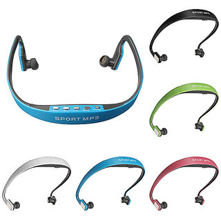 Hq Sports MP3 Wireless With Fm Radio And Memory Card Slot Stereo Wireless Headphones