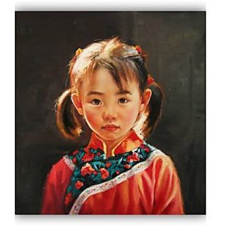 Vitalwalls - Portrait Painting  Canvas Art Print.Oriental-082-30