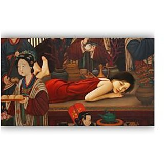 Vitalwalls - Portrait Painting  Canvas Art Print.Oriental-083-45