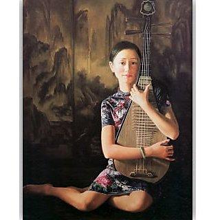 Vitalwalls - Portrait Painting  Canvas Art PrintOriental-088-F-30