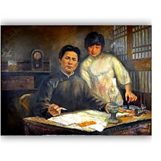Vitalwalls - Portrait Painting  Canvas Art Print.Oriental-096-30