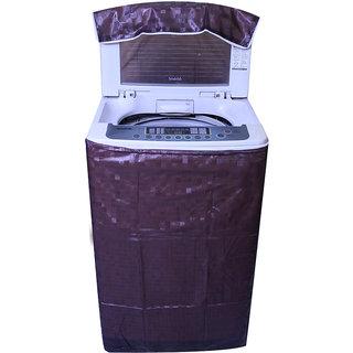 E-Retailer Classic  Brown Colour Square Design Top Load Washing Machine Cover 7.5L