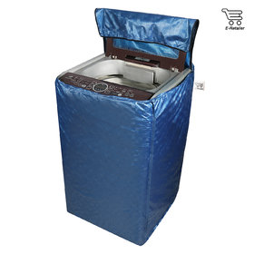 Blue Polyester Top Load Washing Machine Cover