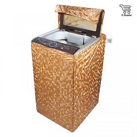 E-Retailer Classic  Orange colour square design Top Load Washing Machine Cover