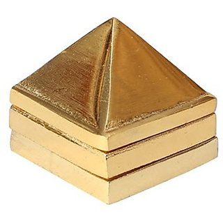 only4you Gold Plated Metal 81 Vastu Pyramid yantra