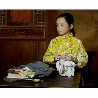 Vitalwalls Portrait Canvas Art Print (Oriental-219-30)