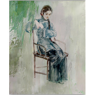 Vitalwalls Portrait Canvas Art Print (Oriental-238-45)