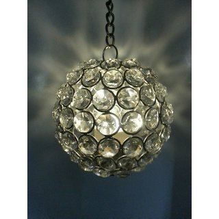 Hanging T-Light Holder - Silver