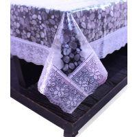 E-Retailers Transparent Pvc Lace Center Table Cover (40X60 Inch)
