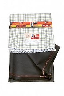 KUNDAN Poly Blend  pack Of 2, Formal Shirt And Trouser (1 Each)