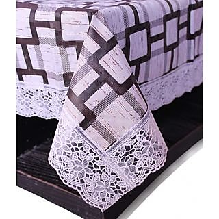 E-Retailers Stylish Square Design With White Lace Center Table Cover