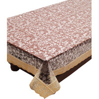 E-Retailers Brown Pvc Lace Center Table Cover (40X60 Inch)
