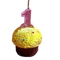 Planet Jashn Planet Jashn Number 1 On Cupcake Candle