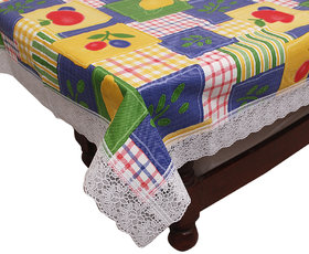 E-Retailers Multicolor Pvc Lace Center Table Cover (40X60 Inch)