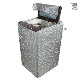 E-Retailer Classic Silver colour With square design Top Load Washing Machine Cover