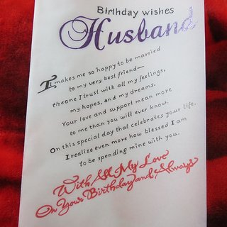 Buy Handicraft Cards Handwritten And Handmade Husbands Birthday
