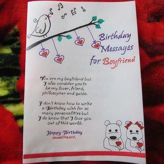 Handicraft Cards Handwritten And Handmade Boyfriends Birthday Card