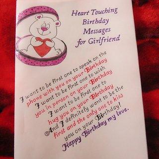 Handicraft Cards Handwritten And Handmade Girlfriends Birthday Card