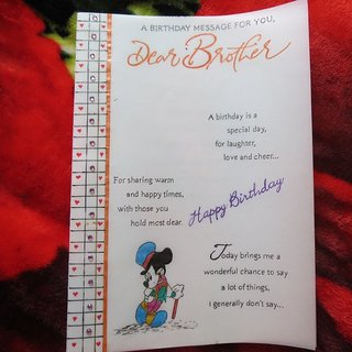 Buy Handicraft Cards Handwritten And Handmade Brothers Birthday