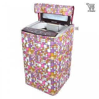 E-Retailer Classic multi colour square design Top Load Washing Machine Cover