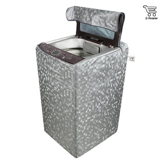 E-Retailer Classic Silver colour With square design Top Load Washing Machine Cover