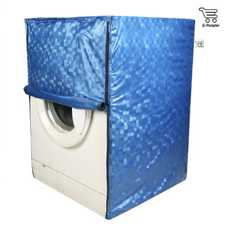 E-Retailer Classic Blue Colour With Square Design Front Loading Washing Machine Cover