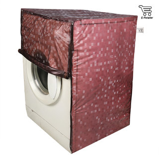 E-Retailer Classic Dark Brown Colour With Square Design Front Loading Washing Machine Cover