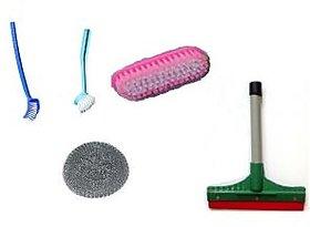 Kitchen Wiper +Cloth Cleaning Brush+Kitchen Brush +Steel Scrub+Toilet cleaning
