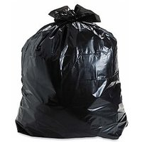 Black Large Disposable Garbage / Dust Bin Bag 19x21 - (150 pcs)