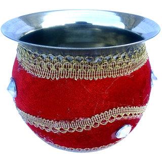 Wedding  Pooja accessory, Steel LOTA / GARHWI / KALASH / POT / KALSI