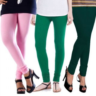 Angel-Magjons Cotton Leggings Set Of 3 Color Combo MJ1558