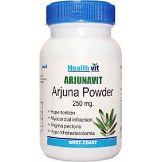 HealthVit ARJUNAVIT Arjuna Powder 250 mg 60 Capsules (Pack Of 2)
