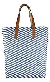 YOLO Women's Marvella WDustyBlueStripes Medium Shoulder Bag