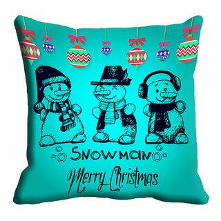 meSleep Santa Snowman Christmas Cushion Cover 16x16