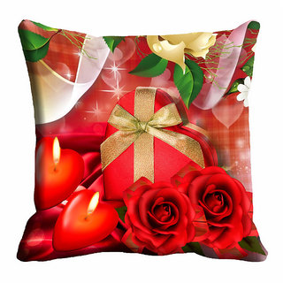 meSleep Red Rose Christmas Cushion Cover 16x16