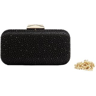 BROW  BOW black party clutch