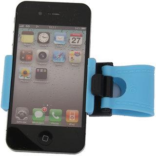 Universal Car Steering Wheel Bike Clip Mount Holder For Cellphone Sky Blue