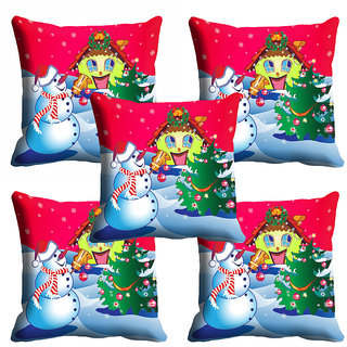 meSleep Red Christmas Cushion Cover 16x16