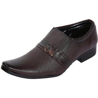 Louis Praiyo Brown Mens Formal Slip On Shoes