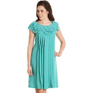 Soie Green Party Shift Dress