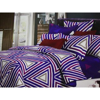 Aa Geo High Premium Quality Double Bedsheet