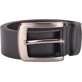black pure leather belt (b1003)