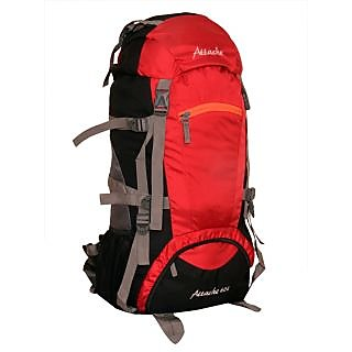 Attache 1023O Rucksack Hiking Backpack 60Lts (Red Black) With Rain Cover