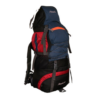 Attache 1022R Climate Proof Rucksack Hiking Backpack 60Lts (Red Navy Blue)