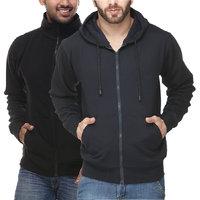 Grand Bear Men's Blue & Black Sweatshirt (Pack of 2)