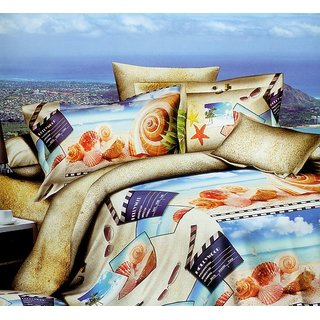3D Printed Double Bed Sheet  2 Pillow Cover Shree Creations King Size Bedsheet