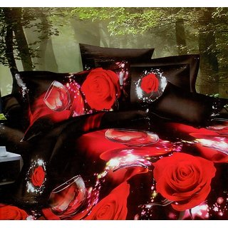 3D Printed Double Bed Sheet  Pillow Covers Shree Creations King Size Bedsheet